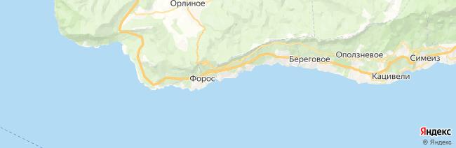 Санаторное на карте