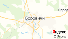 Гостиницы города Боровичи на карте