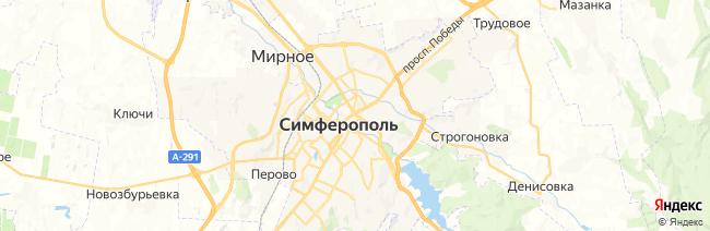 Симферополь на карте