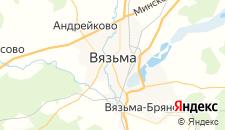 Гостиницы города Вязьма на карте