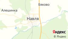 Гостиницы города Навля на карте