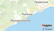 Гостиницы города Рыбачье на карте