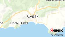 Гостиницы города Судак на карте