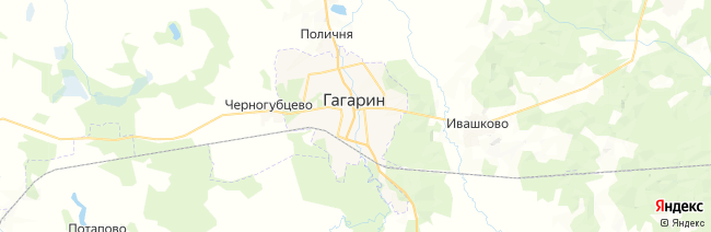 Гагарин на карте
