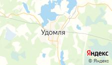 Гостиницы города Удомля на карте