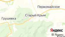 Гостиницы города Старый Крым на карте