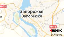 Гостиницы города Запорожье на карте