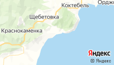 Гостиницы города Курортное на карте