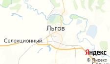 Гостиницы города Льгов на карте