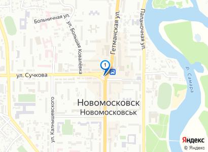 Зимний ночной Новомосковск (центр), декабрь 2013 - просмотр фото на карте