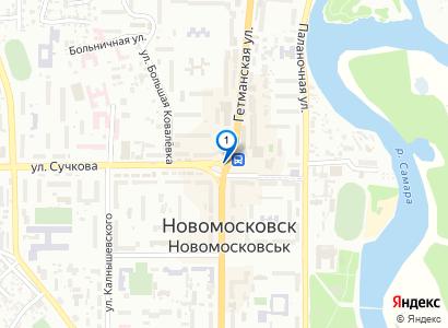 Ночной Новомосковск - просмотр фото на карте