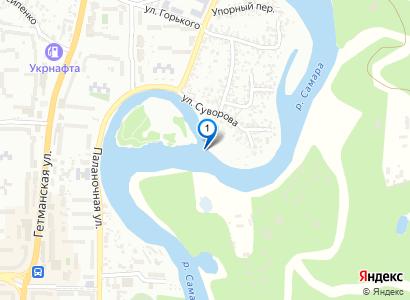 Река Самара в районе острова - просмотр фото на карте