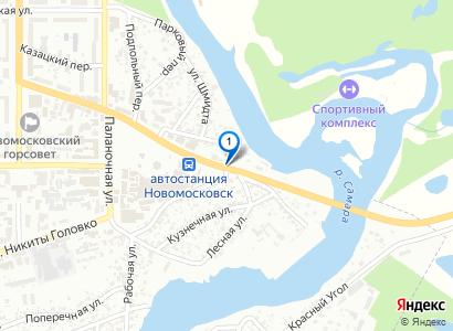 Перестрелка в Новомосковске в районе автовокзала и кафе Каспий - просмотр фото на карте