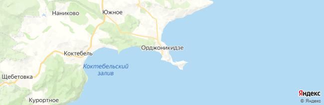 Орджоникидзе на карте