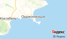 Гостиницы города Орджоникидзе на карте