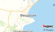 Гостиницы города Феодосия на карте