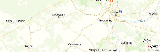 Калужская область на карте
