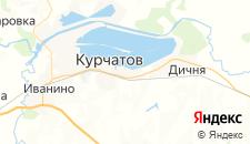 Гостиницы города Курчатов на карте