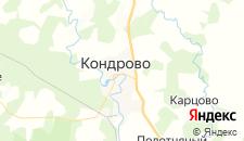 Гостиницы города Кондрово на карте
