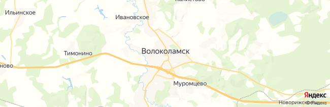 Волоколамск на карте