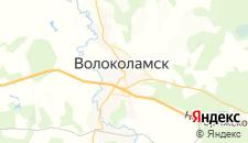 Гостиницы города Волоколамск на карте