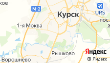 Гостиницы города Курск на карте
