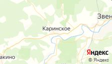 Гостиницы города Каринское на карте