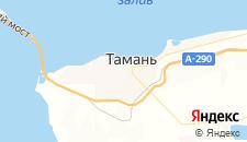 Гостиницы города Тамань на карте