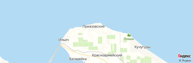 Приазовский на карте