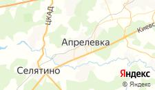 Гостиницы города Апрелевка на карте