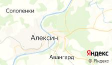 Гостиницы города Алексин на карте