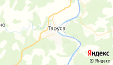 Гостиницы города Таруса на карте