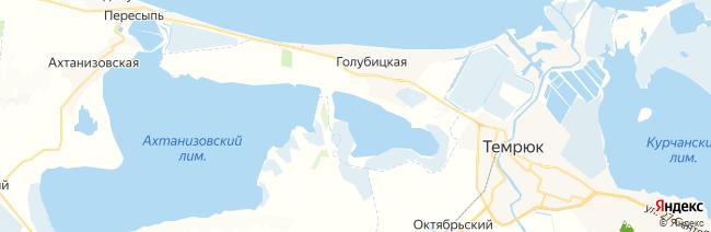 Голубицкая на карте
