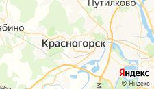 Гостиницы города Красногорск на карте