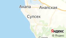 Гостиницы города Супсех на карте