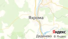 Гостиницы города Яхрома на карте