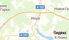 Гостиницы города Икша на карте