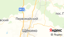 Гостиницы города Первомайский на карте