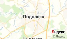Гостиницы города Подольск на карте