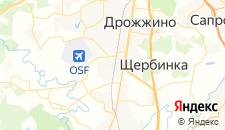 Гостиницы города Щербинка на карте