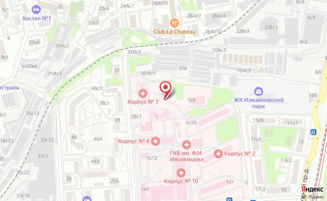 Схема проезда Городская клиническая больница  36