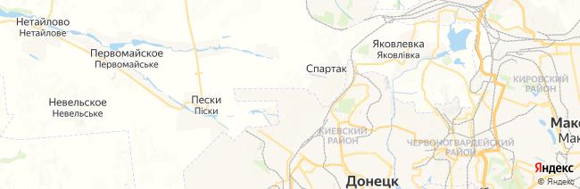 Донецк на карте