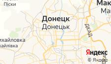 Гостиницы города Донецк на карте