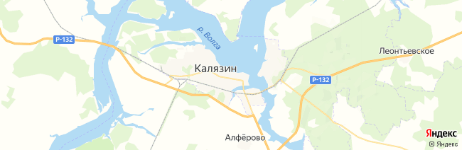 Калязин на карте