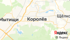 Гостиницы города Королёв на карте