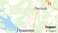 Гостиницы города Правдинский на карте