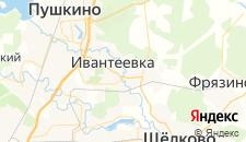 Гостиницы города Ивантеевка на карте