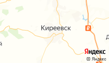 Гостиницы города Киреевск на карте