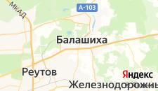 Гостиницы города Балашиха на карте