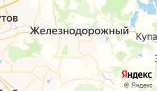 Гостиницы города Железнодорожный на карте